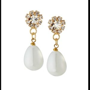 Fragments Crystal Pearly Drop Earrings